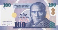 100 New Turkish Lira