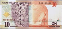 10 New Turkish Lira