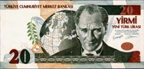 20 New Turkish Lira