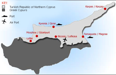 North cyprus holiday north cyprus cities places to see cyprus map gumiabroncs Image collections